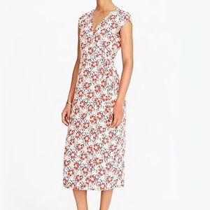 J. Crew Midi Wrap Dress Floral Print